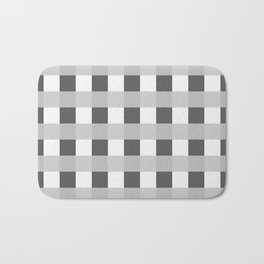 Retro Black and White Squares Bath Mat