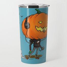 The Skater Pumpkin Travel Mug