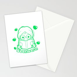 Kawaii Kiddies Cute Bookworm Stationery Cards