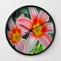 tulips Wall Clocks featuring Tulips by Vitta