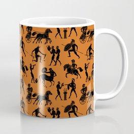 Greek Figures // Dark Orange Coffee Mug