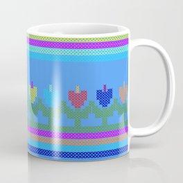 Childish Embroidered Flowers Coffee Mug