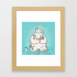 Hairy Baby Day Care Center Framed Art Print