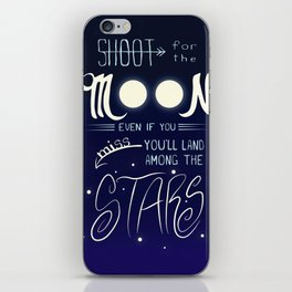 Shoot for the Moon iPhone Skin