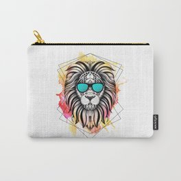 Ornate Watercolor Lion Carry-All Pouch
