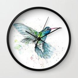 Hummingbird Flurry Wall Clock