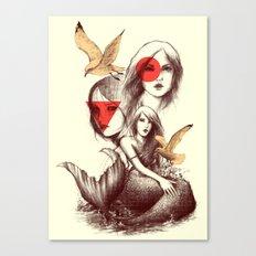 When Mermaids Cry Canvas Print