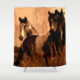 Horse Spirits Shower Curtain