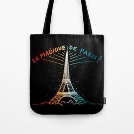 Le Magique De Paris (the magic of...) French Artwork, Eiffel Tower Print Tote Bag