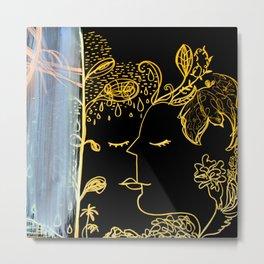 Golden Dream by Ella Son Metal Print
