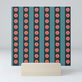 Patterned Stripes Mini Art Print