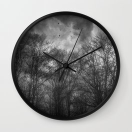 Flight Scratched Wall Clock