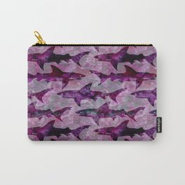 Danger: Purple Shark Attack Carry-All Pouch