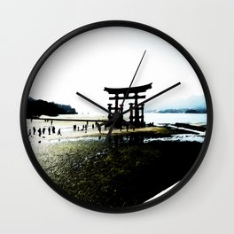 The Gate of Miyajima Wall Clock