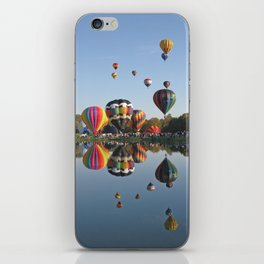 hot air balloons iPhone Skin