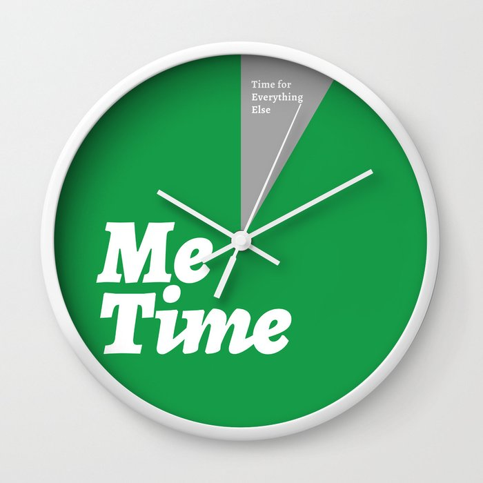 Me Time - Green Wall Clock