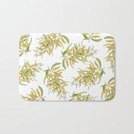 Australian Wattle Flower, Illustration Bath Mat