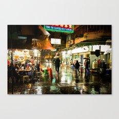 Hong Kong Cafe Yellow Canvas Print