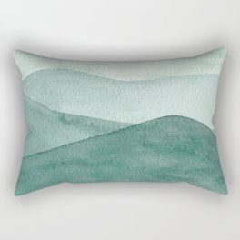 Green Mountain Range Rectangular Pillow
