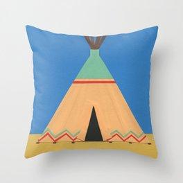 Tipi Green Red Throw Pillow