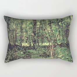 Trees and Undergrowth Rectangular Pillow