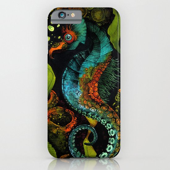 Seahorse in Blue iPhone & iPod Case