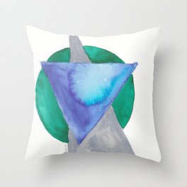180818 Geometrical Watercolour 3 Throw Pillow
