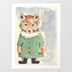 Bear Fox Art Print