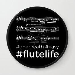 #flutelife #easy (dark colors) Wall Clock