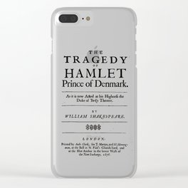 Hamlet William Shakespeare Title Page Clear iPhone Case