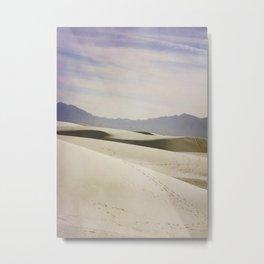 Tracks in the Sand Metal Print