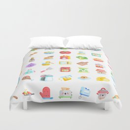 CUTE COOKING PATTERN Duvet Cover