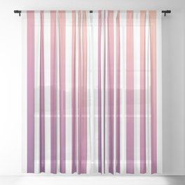 pastel stripes or pinstripes Sheer Curtain