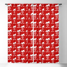 Keep Calm and Fart On with the cute French Bulldog Blackout Curtain