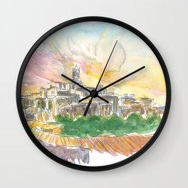 Impressive Siena Skyline From Glorious Past Wall Clock