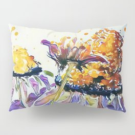 Poppin Purple Echinacea watercolor by CheyAnne Sexton Pillow Sham