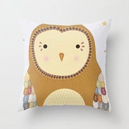 Autumn the Owl Throw Pillow