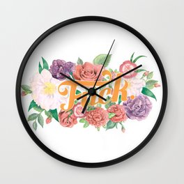 Profanity Flowers #1: F*CK Wall Clock