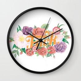 Profanity Flowers #1: F*CK Wall Clock