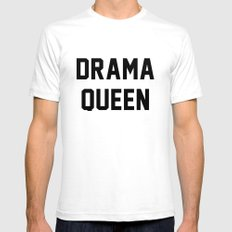 Drama Queen SMALL White Mens Fitted Tee