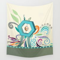 polygon Wall Tapestries featuring Polygon monument by /CAM