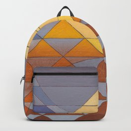Pyramid Sun Mauve Purple Backpack