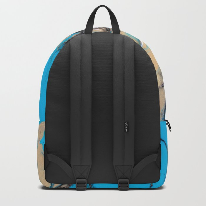 baby blue marble Backpack