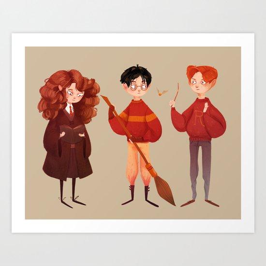 Friendship and Bravery Art Print