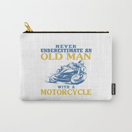 OLD MAN WITH A MOTORCYCLE Carry-All Pouch