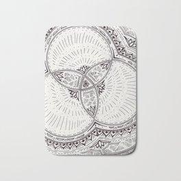 Geometric Doodle Bath Mat