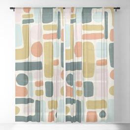 Abstract No.6 Sheer Curtain