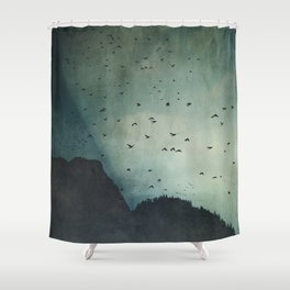 exodus -  a sky full of birds Shower Curtain