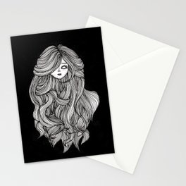 Doll head (black) Stationery Cards