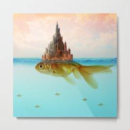 Goldfish Castle Island Metal Print